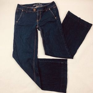 American Eagle Womens Jeans 8R Blue Trouser Flare